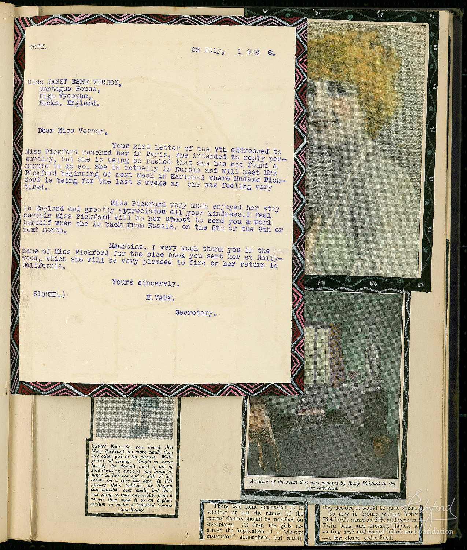 Scrapbook paper england - Hand Colored Fan Scrapbook From 1925 26