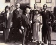 Mary Pickford, Douglas Fairbanks and Carl Laemmle - 1921