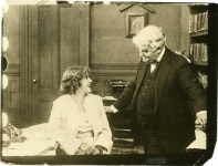A Good Little Devil film still -- Mary Pickford and David Belasco in film's prologue - 1914