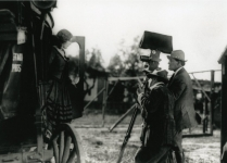 Cecil B. DeMille directs Mary Pickford in A Romance of the Redwoods - 1917