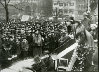 Mary speaking at a Liberty Bond rally - 1918