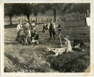 Mary Pickford and crew on the set of Daddy-Long-Legs - 1919