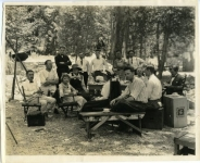 Mary Pickford, dir. Sidney Franklin, cam. Charles Rosher, Gilbert Warrenton on the Heart o' the Hills set - 1919