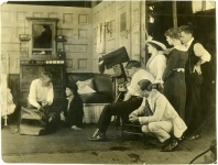 On the set of Poor Little Peppina - 1916