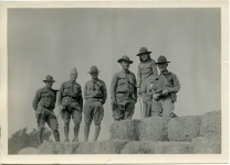 Mary Pickford with Army officers on training maneuvers - 1918