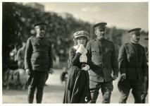 Mary Pickford at Army/Navy football game - 1918
