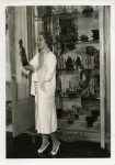 Mary Pickford with a cabinet of antique jade never before photographed, Pickfair - 1935