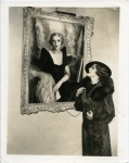 Mary Pickford and her portrait - 1937