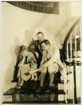 Mary Pickford, Douglas Fairbanks, Zorro and guest at Pickfair - 1922
