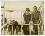 Mary Pickford and Douglas Fairbanks during Pickford-Fairbanks studio construction - 1922