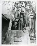 Mary Pickford, Douglas Fairbanks and Charlie Chaplin on the set of Rosita - 1923