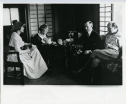 Mary Pickford, Frances Marion, Adolph Zukor and Cecil B. DeMille at Mary's dressing room cottage - 1917