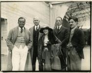 Douglas Fairbanks, Mary Pickford, Charlie Chaplin, D.W. Griffith, and Oscar Price, lawyer at Chaplin Studios - 1919
