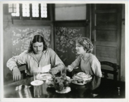 Mary Pickford and Douglas Fairbanks at breakfast - 1921