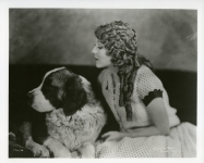 Mary Pickford and dog Robin Hood - 1925