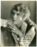 Hand-autographed portrait of Mary Pickford - 1919