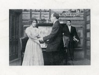Mary Pickford and Billy Quirk in His Wife's Visitor - 1909
