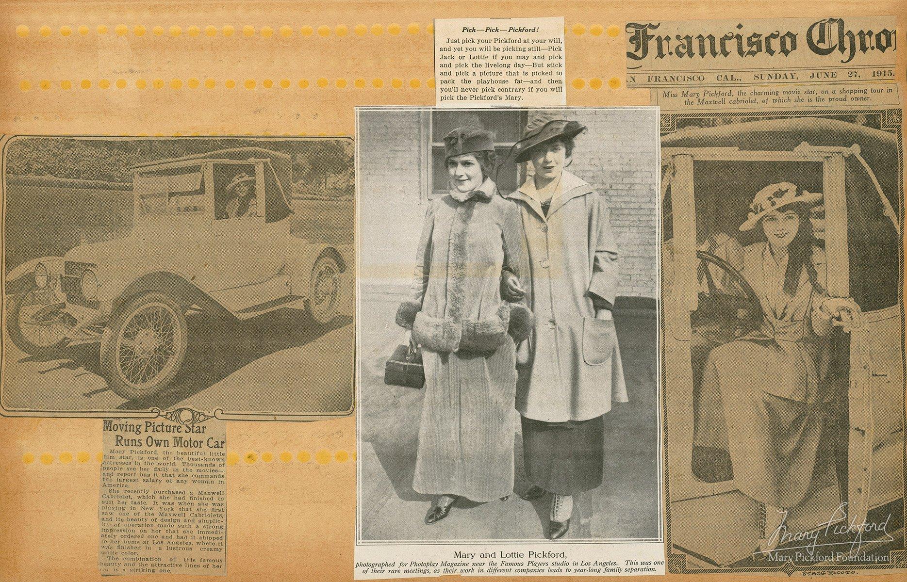 Scrapbook paper companies - 1913 1916 Scrapbook P 017