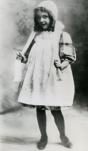 Mary as a child, 1902