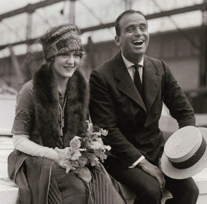 Mary and Doug embark on their European honeymoon, 1920