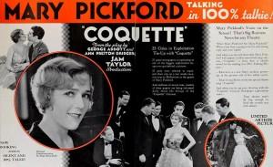 Mary Pickford - Coquette ad
