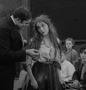 Mary Pickford in The School Teacher and The Waif (1912)