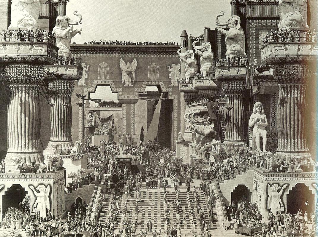 Griffith's Intolerance set, 1916