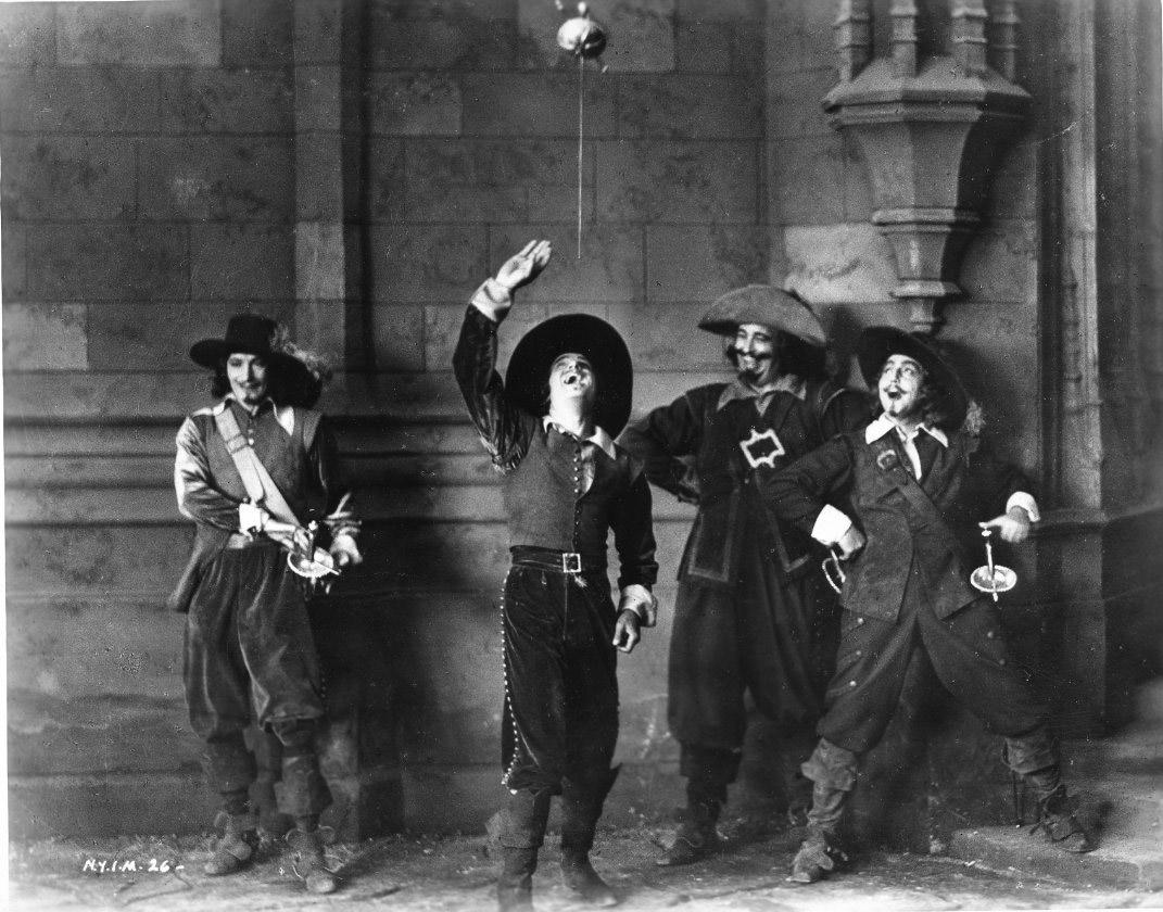 Douglas Fairbanks on the set of The Iron Mask