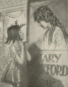 Mary Pickford Cartoon - Academy Scrapbook #21 detail