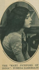 """Mary Pickford of India"" Zubeda Sahebzadi - Academy Scrapbook #21 detail"