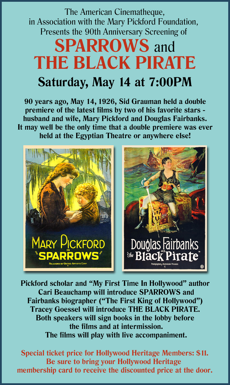 Sparrows and The Black Pirate - May 14, 2016 (Poster)