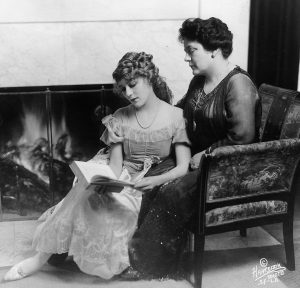 Mary Pickford and Charlotte Hennessey Pickford (1915)