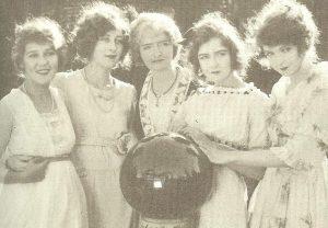 Mary with Mildred Harris, Mary Gish, Dorothy Gish, and Lillian