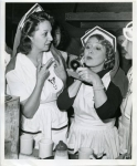 Mary Pickford and Mary Livingston at Fort MacArthur, San Pedro, Calif.Mary Pickford and Mary Livingston at Fort MacArthur, San Pedro, Calif. - 1942