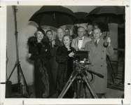 L to R: Countess Liv de Margret, Phil Friedman, Jesse Lasky, Mary Pickford, Dr. Edison Petleit, Samuel Goldwyn - 1936
