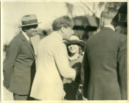 Douglas Fairbanks visiting the set of Sparrows - 1926