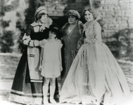 Mary Pickford, Lottie, Charlotte and Gwynne on the set of Dorothy Vernon of Haddon Hall - 1924