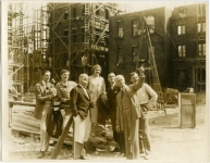 Building the Little Annie Rooney set at Pickford-Fairbanks Studio - 1925