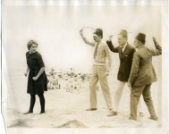 Mary crosses the burning sands -- Driven by her staff, William Beaudine, E. Newman, and Charles Rosher, director, manager and cameraman - 1925
