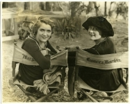 Mary Pickford and Frances Marion on the set of The Love Light - 1920