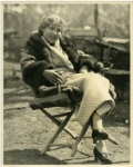 Mary Pickford on the set of Sparrows - 1926