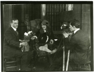 Mary Pickford, Maurice Tourneur, Lucien Androit on the set of The Poor Little Rich Girl - 1917