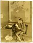 Mary Pickford in the United Artists press room - 1927