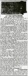 At the Hippodrome – April 26, 1916