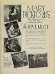 1921 - <em>The Love Light</em> ad