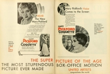 1929 -   Coquette ad from <em>Motion Picture News</em> magazine
