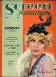 1931 - Cover of <em>Screen Romances</em> magazine