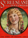 1923  - Cover of <em>Screenland</em> magazine