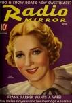 1936 - Cover of <em>Radio Mirror</em> magazine