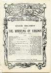 1907 - Theater program -- <em>The Warrens of Virginia</em>